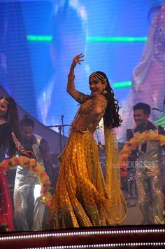 Sonam Kapoor performing on stage at #SaifaiMahotsav. #Bollywood #Fashion #Style…