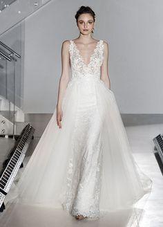 Wedding Dresses, Bridal Gowns, New York Fashion Week Lazaro Wedding Dress, Lazaro Bridal, Wedding Dress Trends, Tulle Wedding, Wedding Gowns, Dream Wedding, Bride Gowns, Bridal Dresses, New York Fashion