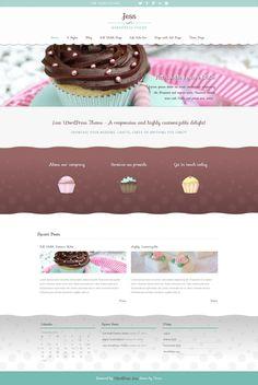 Jess - Elegant WP Theme by webdesigngeek on DeviantArt Website Layout, Website Themes, Website Design Inspiration, Blog Design, Design Ideas, Wordpress Theme Design, Best Wordpress Themes, Bakery Website, Web Design Projects