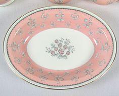 Pimpernel Pink Wedgwood Bone China Oval Vegetable Serving Bowl Side Dish W3652 #Wedgwood