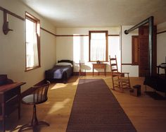 Shaker 'Retiring Room' from the North Family Dwelling, New Lebanon, New York.