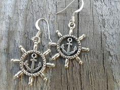 Steuerrad Anker Schiffsruder Ohrringe maritim  von Küstenmädel auf DaWanda.com