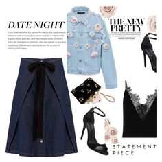 """""""a glam look for date night this weekend"""" by lushxoxo ❤ liked on Polyvore featuring MM6 Maison Margiela, Alexander Wang and Anouki"""