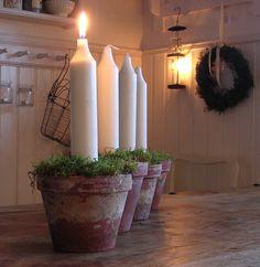 Mooi met dikke kaarsen