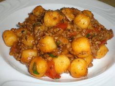 Gnocchi - Hack - Pfanne mit Basilikum - My list of simple and healthy recipes Italian Christmas Cookie Recipes, Italian Cookie Recipes, Sicilian Recipes, Greek Recipes, Spicy Recipes, Pork Recipes, Healthy Recipes, Carne Picada, India Food