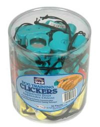 dog bone clickers with sound dampening