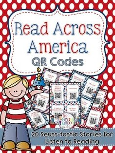 A collection of 20 QR Codes that will allow your students to scan and listen to some of the most well-known and loved Dr. Seuss stories. All stories are shared through Safe Share, which will prevent your students from clicking on external ads or websites.