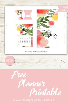 Free Printable Spring Dashboard from Vintage Glam Studio