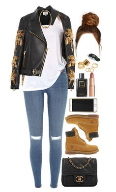 """""""21 December, 2015"""" by jamilah-rochon ❤ liked on Polyvore featuring FAUSTO PUGLISI, Timberland, River Island, Forever 21, Melody Ehsani, Chanel, Charlotte Tilbury, Pieces, women's clothing and women"""