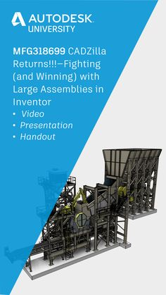 Large assemblies in Autodesk Inventor can be a monster to deal with, but they don't have to be. Learn how to manage your large Assemblies in Autodesk Inventor in this free online class from Jim O'Flaherty. Autocad Inventor, Autodesk Inventor, University, Management, Learning, Luxury, Free, Studying, Teaching