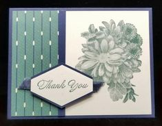 "Heartfelt Blooms, Tailored Tag punch, True Gentleman DSP, Night of Navy 3/8"" Corduroy Ribbon (colors are Tranquil Tide & Night of Navy)"
