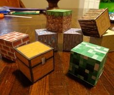 DIY REAL Minecraft blocks made simple! A creative way to make your own blocks from Minecraft in real life. This is a wonderful activity for kids to work on. Especially if they're into the popular game Minecraft!