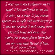I Miss And Love You Quotes