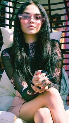 grafika style, galore, and maggie lindemann Maggie Lindemann, Hipster Girls, Grunge Girl, Scene Hair, Bad Girl Aesthetic, Mode Vintage, Celebs, Celebrities, Mode Outfits