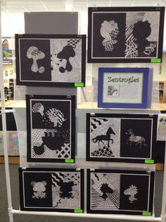 Zentangle animal reflections - love love love!! Inspiration for my first summer art project!