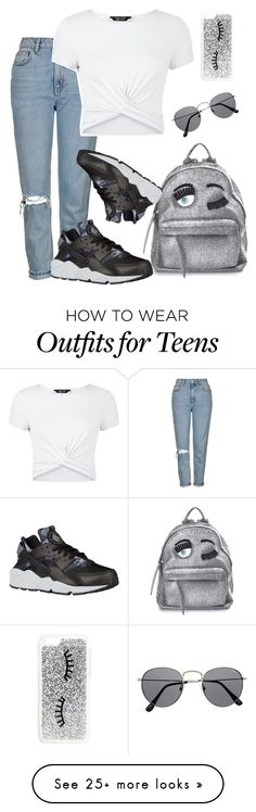 """"" by kaaymvrie on Polyvore featuring Topshop, Chiara Ferragni, New Look, NIKE…"
