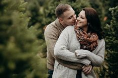 Christmas Engagement Photos, Rustic Engagement Photos, Engagement Couple, Engagement Session, Winter Engagement, Christmas Couple, Christmas Tree Farm, Couple Shoot, Couple Posing