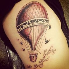 Vintage Hot Air Balloon Tattoo | Tattoos on Pinterest | Sunflower Tattoos, Wanderlust Tattoos and Comp ...