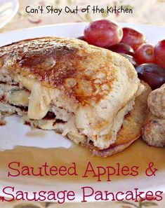 Sauteed Apples and Sausage Pancakes.  Because Breakfast Gods are real, y'all.