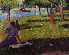 Seated and Standing Woman - Georges Seurat