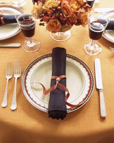 Easy ribbon and bead napkin ring