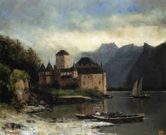 Gustave Courbet View of the Chateau de Chillon