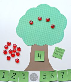 Counting Apples Activity for Preschoolers and Kindergartners from The Educators' Spin On It