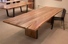 Elm dining table with elm infill steel frame base    www.urbanhardwoods.com #UrbanHardwoods #SalvagedWood