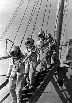 Vintage Deep Sea Divers
