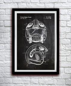 Star Wars X-Wing casco - acción figura juguete Decor - cartel grabado patente pared Decor - 0096