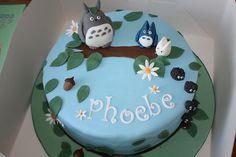 Totoro birthday cake (I had so much fun making this one!)