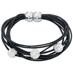 Shiny Ball leather bracelet