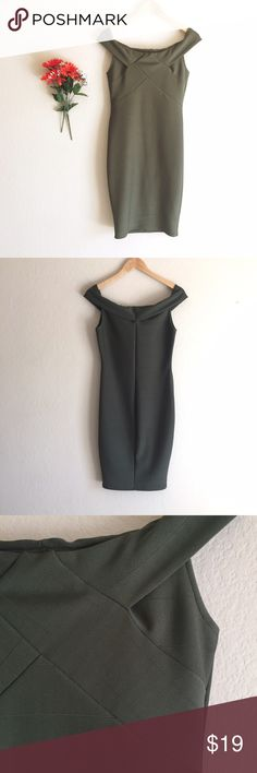 🆕 | Sexy Olive Bandage Dress Very sexy and stylish, fits tight in all the right places to show off all those curves. Only worn once, so it's in mint condition.   • fits true to size • no rips or stains   ◆ no holds  ◆ no trades   ◇ open to reasonable offers  ✦✦ bundle and save 10% on 3+ items ✦✦ Dresses Strapless