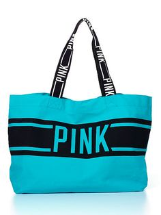 Victoria's Secret Teal Tie Dye Beach Bag NWT | Teal tie and Canvas ...