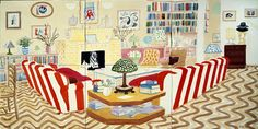 2000s : Paintings : Works | David Hockney Interior with Lamp, watercolour on paper (6 sheets)