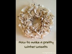 How to make a beautiful burlap wreath