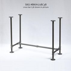 Rusty Design, Pipe Legs KIT with Cross Bar for Writing Desk, Computer Table, H-Shape, x x Pack suitable for 1 Table Cast Iron Table Base, Iron Table Legs, Diy Table Legs, Pipe Leg Table, Pipe Desk, Pipe Lamp, Table Frame, Table Desk, Bbq Table