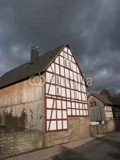 Restauriertes Fachwerkhaus in Salzböden bei Lollar im Landkreis Gießen