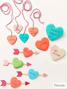 Learn how to make cute clay play hearts.