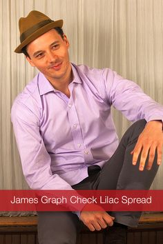 J Wingfield: James Graph Check Lilac Spread  We made this handsome graph check in 2 color choices. Light Blue & Lilac.