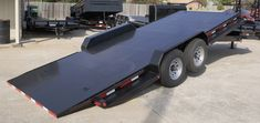 Tilt Bed Trailers - We can special order any size trailer to fit your needs! Tilt Trailer, Car Hauler Trailer, Trailer Plans, Trailers, Car Bed, Lifted Cars, Toyota 4runner, Amazing Cars, Outdoor Furniture