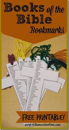 FREE Printable Books of the Bible Bookmarks