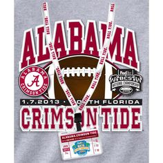 bd0169ba90b Alabama Crimson Tide 2012 BCS National Championship   Lanyard   Participant  T-Shirt GameDay Depot  College Sports Apparel