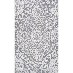 nuLOOM Modern Vintage Fancy Floral Grey Rug (7'6 x 9'6) | Overstock.com Shopping - The Best Deals on 7x9 - 10x14 Rugs