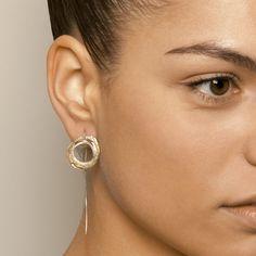 Shimara Carlow Yellow Gold Wrap Silver Earrings