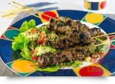 Peruvian Garlic & Thyme Marinated Lamb Skewers, on Quinoa Salad | What2Cook