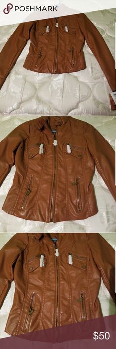 a9ef40756f67 New with tags 100% vegan leather jacket Brand new. Size xs Jackets   Coats