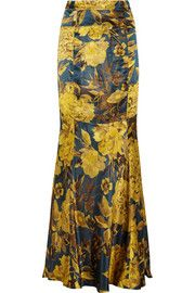 Tory Burch Beacon printed silk-blend maxi skirt