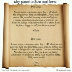 Need help with punctuation and Grammar please?