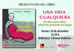"""Cartel de presentación del libro """"Una vida cualquiera"""""""